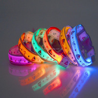 Wholesale China Factory 2016 New Pet Dog Collar Night Safety LED Light-up Flashing Glow in the Dark Lighted