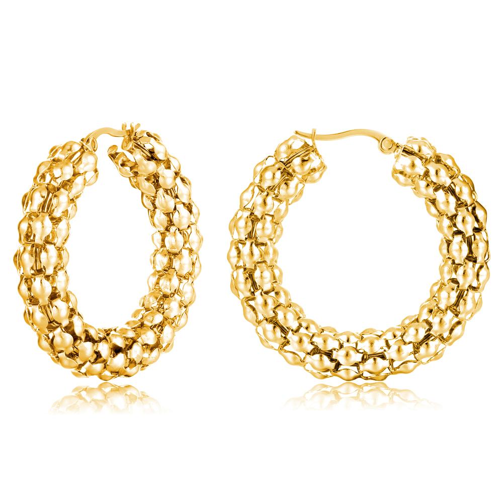 Copper Basket Statement Bulk Hoop Earring For Women Indian Style ...