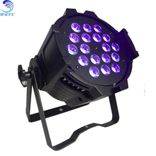 High power high brightness led star effect stage lighting 18pcs 18W rgbwauv DMX