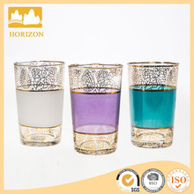 Morocco exotic style colorful glass tumbler cup tea light candle holder/stand