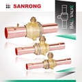 Sanrong Two Way Air Conditioner Service Valve, Air Conditioner Valve, GBC Hot Forged Brass Refrigeration Ball Valve