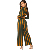 Y072 sexy long sleeve crop top wide long pants women autumn two piece set jumpsuit