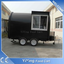 Outdoor street mobile pizza refrigerator food vending cart for sale