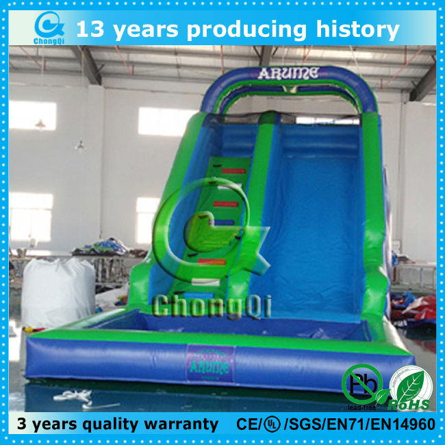 low price inflatable water slide for kids and adults