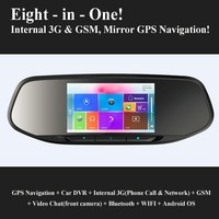 New Rearview Mirror Navigation with internal 3G GSM Original eroda device - V50S!