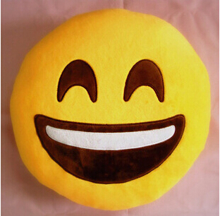 SMILE SOFT PLUSH EMOJI PILLOW FOR REST OR GIRL USE FOR WATCHING TV