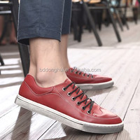 Lace up black red skate board shoes wholesale online international trade