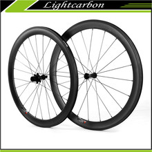 Ceramic Hub!! 700C 50mm clincher carbon fiber wheels 20/24H carbon road bike wheels with cx-ray spokes carbon road wheels