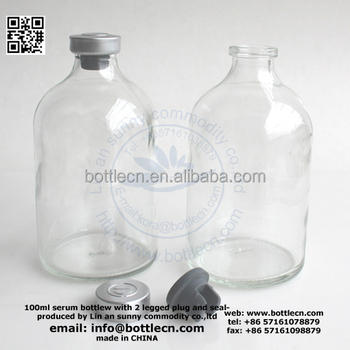 50ml 100ml amber clear pharmaceutical glass bottles vials