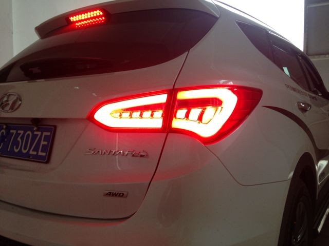 Vland auto car styling for 2013 up santafe taillamp LED taillight best quality rear light