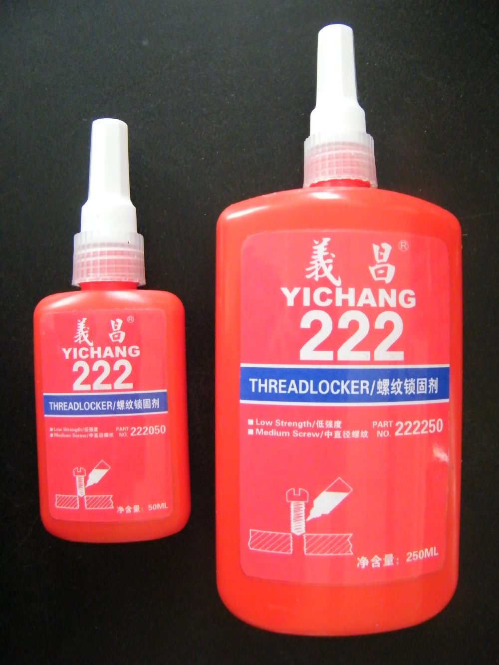 Thread locking adhesive for metal bonding