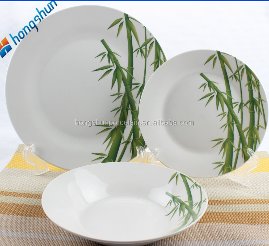 China wholesale <strong>Natural</strong> degradation bamboo fiber dinnerware sets,Dinner plates/bowl