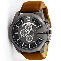 V6 Big Dial plate Fake key Watch Multifunction Outdoor Sport Leather Watches Fashion Quartz watch men