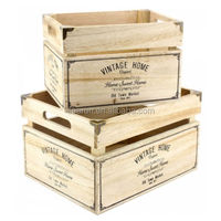 Natural Wood Box Fruit Crate Cheap Wooden Wine Crates for Sale