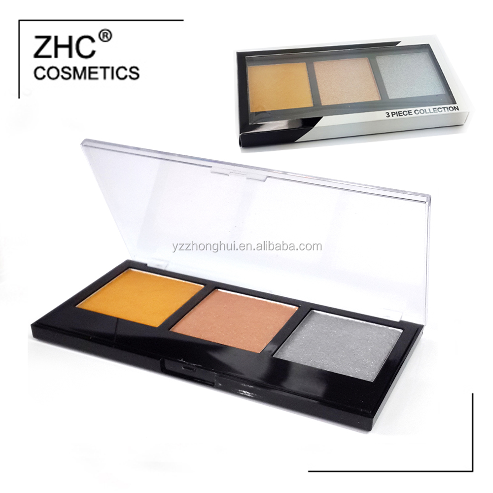 CC30430 Hot sale eyeshdow palette with 3 colors high pigment eyeshadow free sample eyeshadow packing