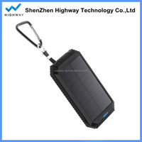 Handy solar LED mobile charger USB battery power bank for sport
