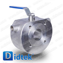 2016 Most Popular stainless steel manual jacket wafer type ball valve with price list