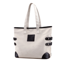 China manufacture fashion heavy duty beautiful ladies canvas tote bag