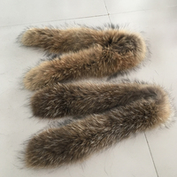 Natural Raccoon Fur Trimming Real Fur