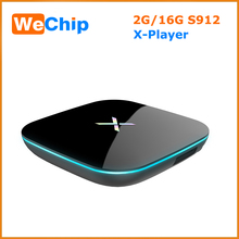 X Player Android 6.0 TV Box 16GB Amlogic S912 Octa Core Smart Mini PC 2G 16G 4K 3D H.265 Android TV Box BT4.0