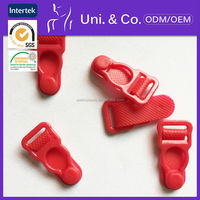 Wholesale nickle-free red plastic grater suspender for ladies lingerie