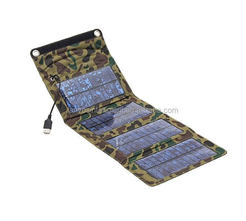 7W foldable solar panel charger outdoor use emergency power charger for mobile phone use