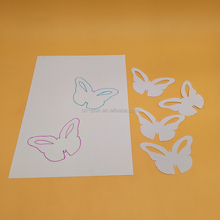 2017 new style DIY plastic white Butterfly drawing stencils PP stencils kids painting Template
