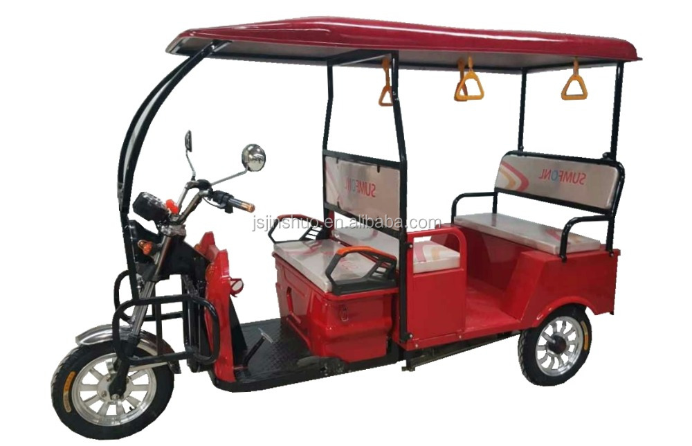 Eco Friendly Electric Rickshaw / 3 Wheel Battery Driving Tricycle For Passenger