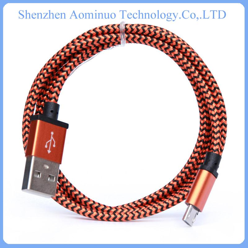 consumer electronics braided ethernet cable mobile charger cable For Samsung usb charger cable