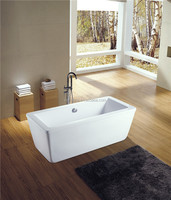 cUPC square bath tub,plastic water tub,best spa tub
