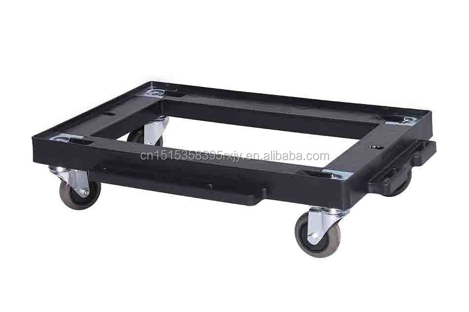 High quality moving pallet dolly, plastic dollies with wheels
