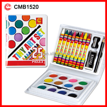 Popular High Quality Crayons with Mini Watercolor Paint