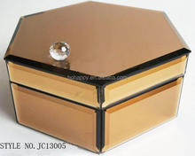 Rose golden rolling preserve decorative Jewelry Case