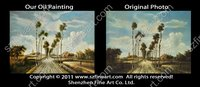 Custom handpainted painting from photo landscape picture best quality