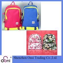 Custom leather child backpack school bag new model for children