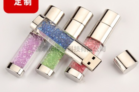 OEM Jewelry USB 2GB, Wedding Gift USB Pen Drive, Crystal Thumb Drive