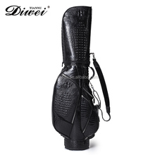 Professional custom-made crocodile genuine leather golf bag