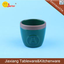 Green Glazed Terracotta Ceramic Dinner Egg cup holder for Kitchenware