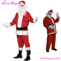 Full Suit Santa Claus Christmas Costume For Men 6pcs set