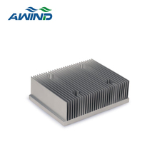 Aluminium extrusions heatsink with copper pipe for power equipment