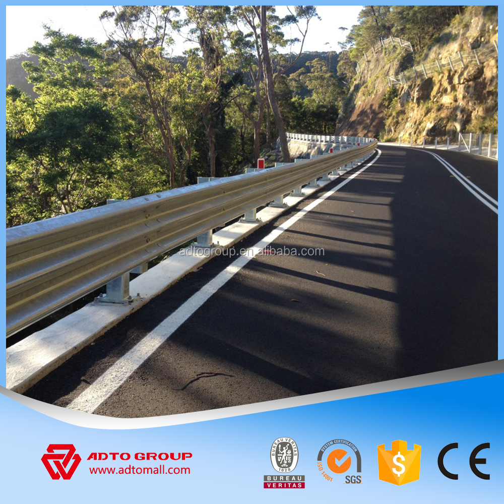 W Wave Beam Three Wave Beam Highway Guardrails Hot Dip Galvanized Barriers Crash Barriers Road Safety Barriers For Sale