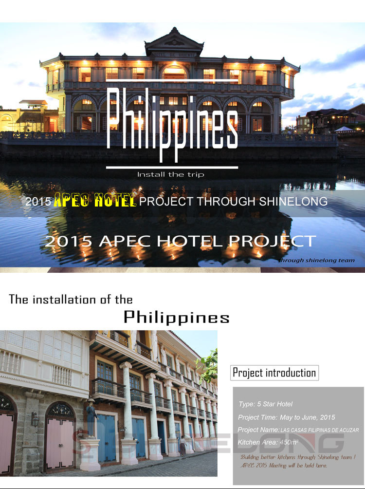 Shinelong APEC Hotel Kitchen Project With Equipment