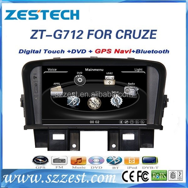 ZESTECH Factroy Diretly Price Win CE 6.0 System 2 din car gps for chevrolet cruze with gps bluetooth