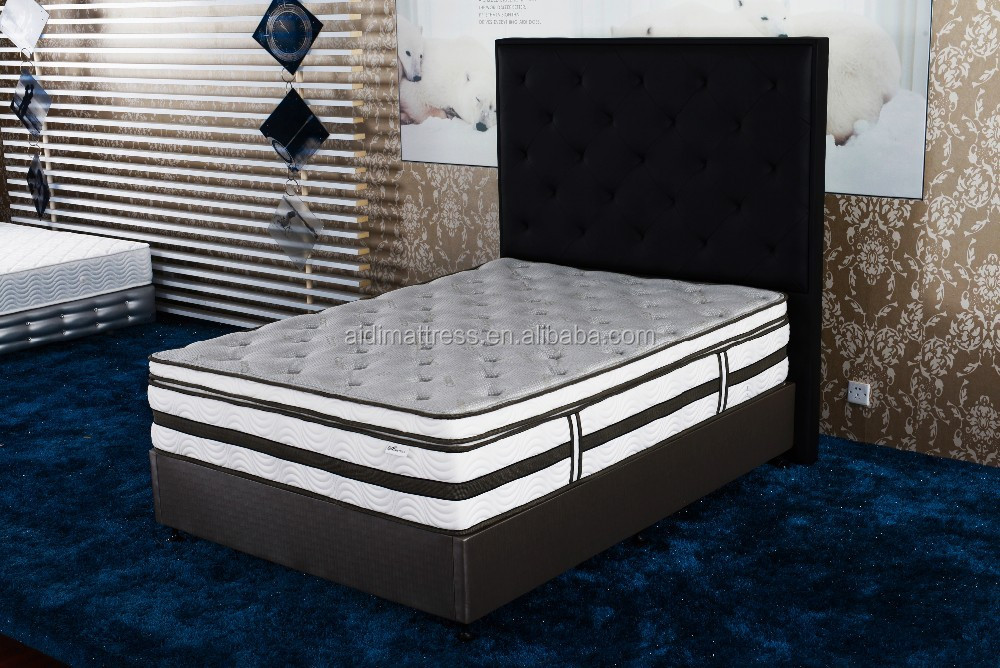 AG-1306 Box Top High Density Foam pocket spring mattress with strengh foam support