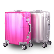 2015 new design best quality Trolley aluminum luggage/ trolley aluminum suitcase