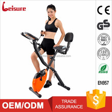 leisure 10-level resistance magnetic exercise bike with back rest