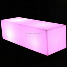 LED bar long stool glowing plastic furniture indoor/outdoor