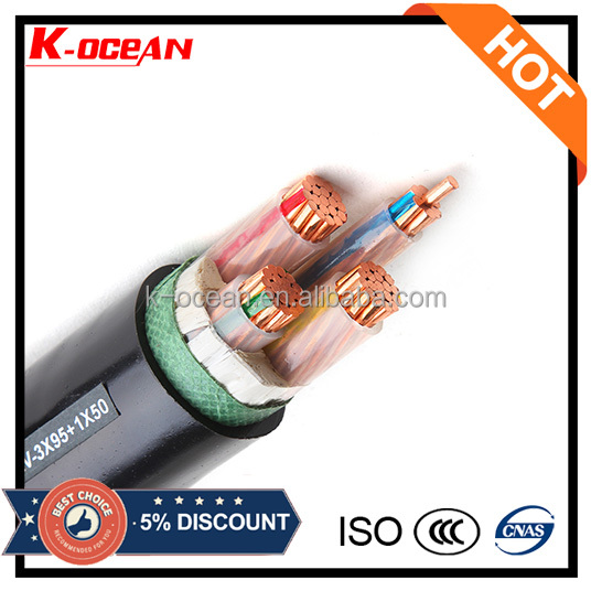 Manufacturer Copper / XLPE / PVC 4 Core 50mm 70mm 95mm Power Cable