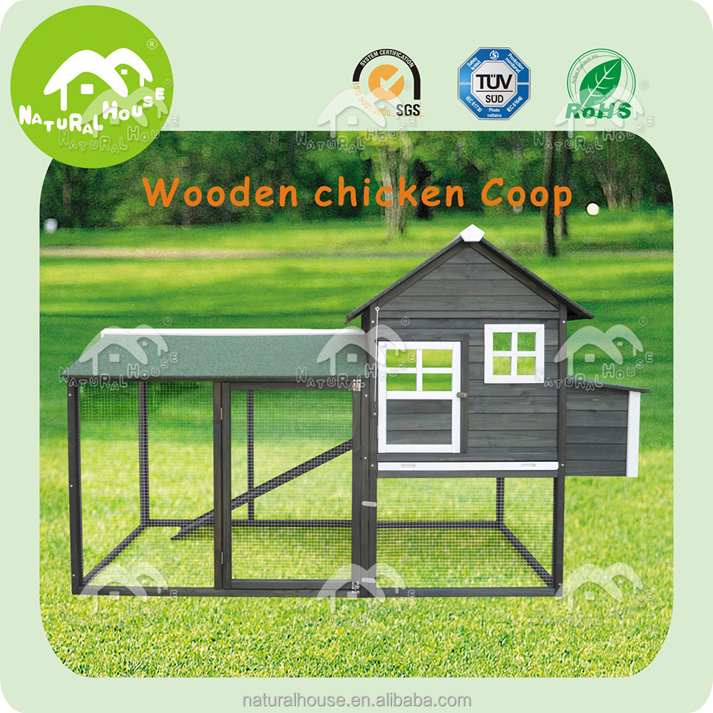 classic wooden Chicken Coop with Large Run