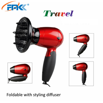 Factory ODM OEM service foldable hair blower dual voltage DC motor folding hair beauty tools promotion hair dryer